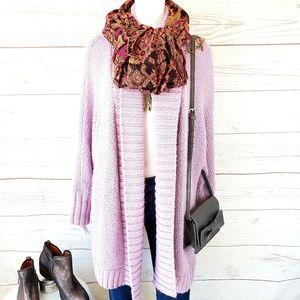 LOFT Sweaters - Loft pretty open front sweater creamy lilac color
